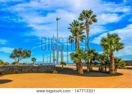 Hdr Lanzarote Beach On Spanish Canary Island