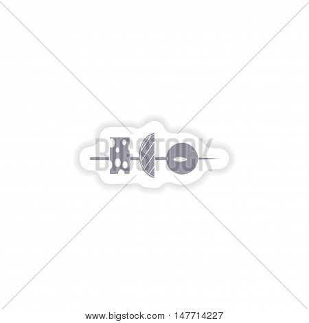 paper sticker on white background  vegetable appetizer