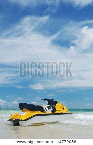 Jet Ski on a tropical beach