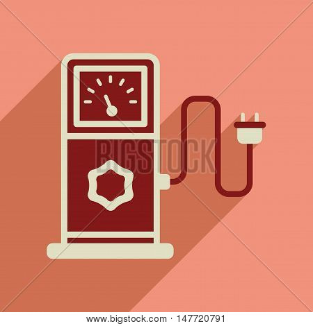 Flat web icon with long  shadow  eco refill