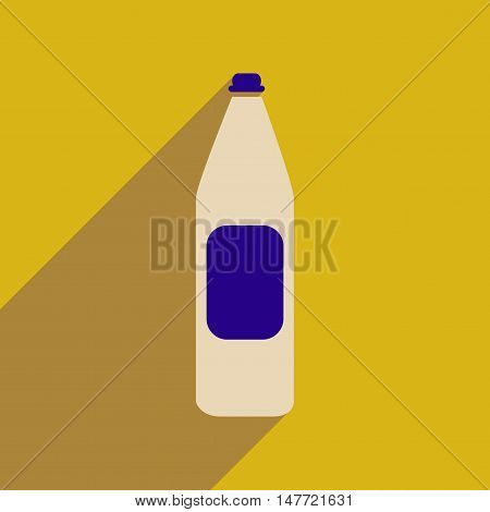 Flat web icon with long  shadow  bottle of water