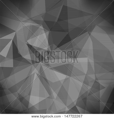 Gray Light Polygonal Mosaic Background.  Business Design Templates. Triangular Geometric Pattern