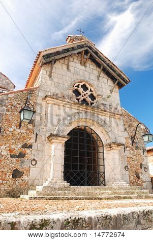Old church in colonial town