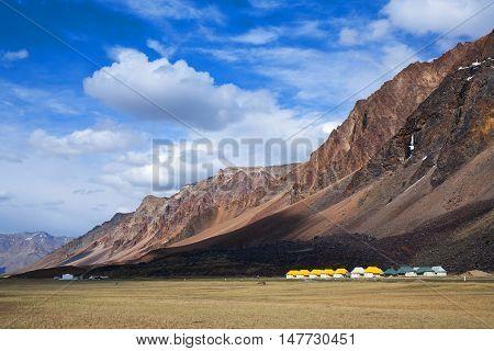 Sarchu Camping Tents At The Leh - Manali Highway