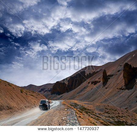 Himalaya Mountain Landscape At The Manali - Leh Highway In Ladakh, India