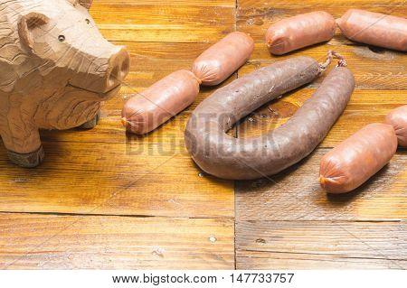 Pork sausage,,Spanish food, pork sausages with spices