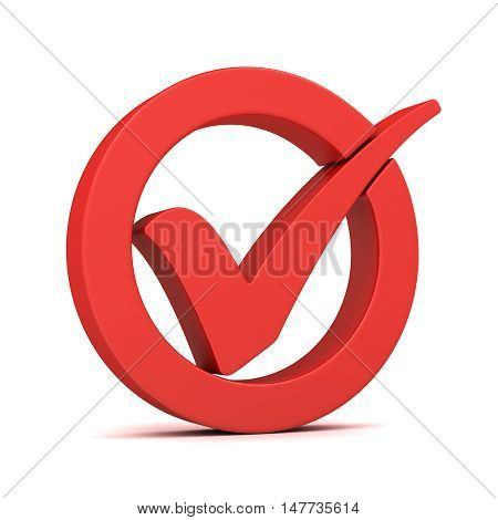 check mark 3d illustration isolated on white background