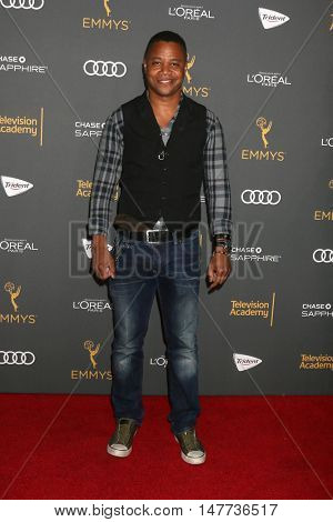 LOS ANGELES - SEP 16:  Cuba Gooding Jr. at the TV Academy Performer Nominee Reception at the Pacific Design Center on September 16, 2016 in West Hollywood, CA