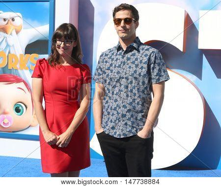 LOS ANGELES - SEP 17:  Katie Crown, Andy Samberg at the