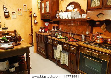 Classic old fashioned kitchen interior