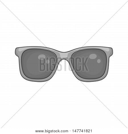 Sunglasses icon in black monochrome style on a white background vector illustration