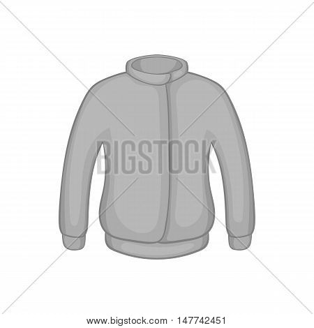 Jacket icon in black monochrome style on a white background vector illustration