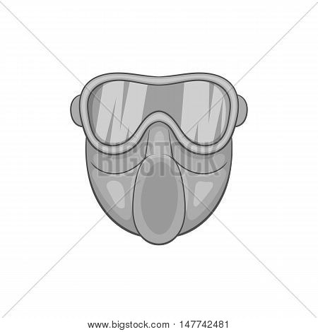 Paintball mask icon in black monochrome style on a white background vector illustration