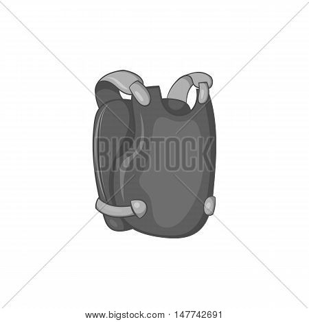 Paintball vest icon in black monochrome style on a white background vector illustration