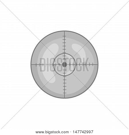 Optical sight icon in black monochrome style on a white background vector illustration