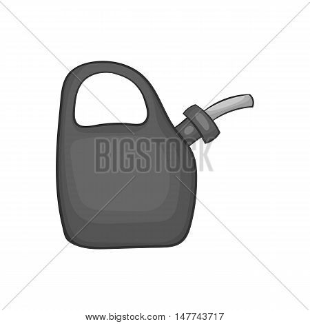 Plastic canister of gasoline icon in black monochrome style isolated on white background. Storage symbol vector illustration