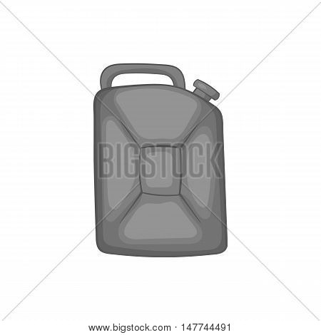 Flask for gasoline icon in black monochrome style isolated on white background. Storage symbol vector illustration