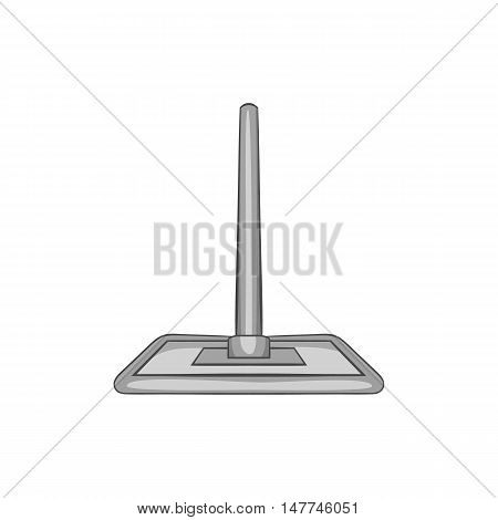 Brush squeegee icon in black monochrome style isolated on white background. Cleaning symbol vector illustration