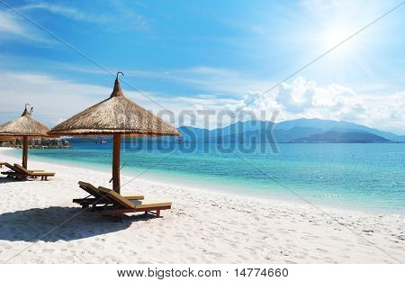 Escena de la playa, Trópico, Pacífico