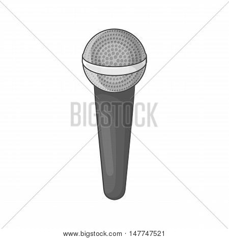 Microphone icon in black monochrome style isolated on white background. Loud sound symbol vector illustration