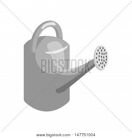 Watering can for flowers icon in black monochrome style isolated on white background. Gardening symbol vector illustration