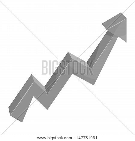 Growing business arrow icon in black monochrome style isolated on white background vector illustration