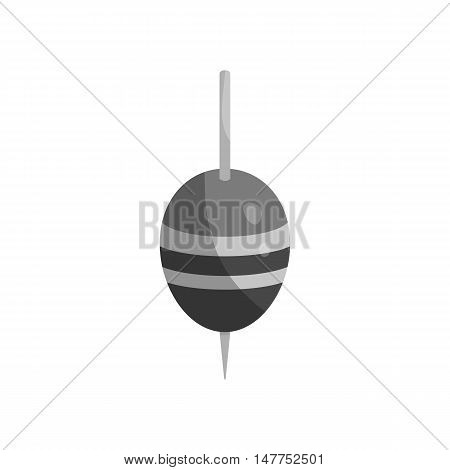 Fishing float icon in black monochrome style isolated on white background vector illustration