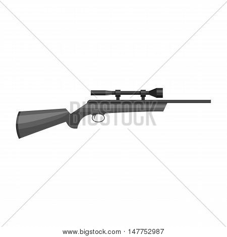 Shotgun icon in black monochrome style isolated on white background vector illustration