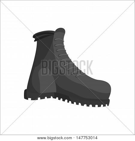 Hunting boots icon in black monochrome style isolated on white background vector illustration