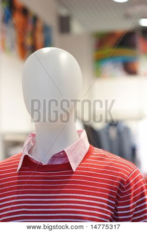Dummy in the clothing store. No brandnames or copyright objects.