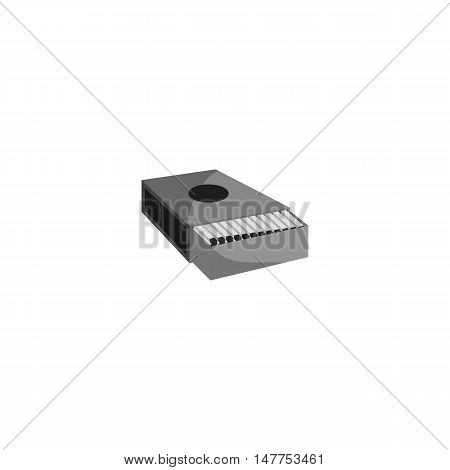 Matchbox icon in black monochrome style isolated on white background vector illustration