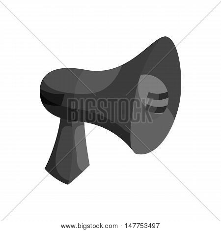 Megaphone icon in black monochrome style isolated on white background vector illustration