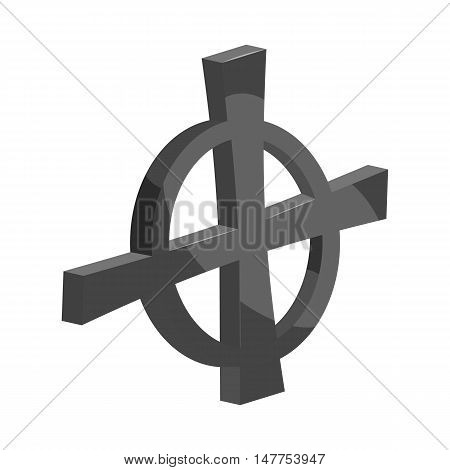 Check mark or cross in a circle icon in black monochrome style isolated on white background vector illustration