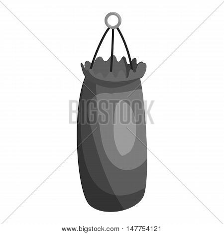 Punching bag for training icon in black monochrome style isolated on white background vector illustration