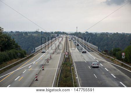 Famous German Wine Region Moselle River with bridge in Winningen 6