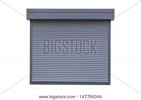 White metal roller door shutter background and texture
