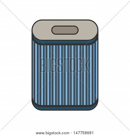 Filter for air purification and dust absorption. Flat icon. Vector illustration.