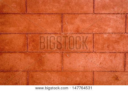 close-up of red brick wall, useful for design, background use
