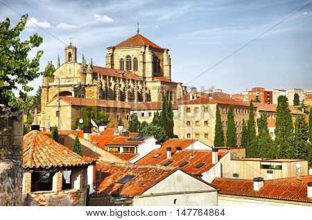 Convent of St. Stephen in Salamanca, Spain. Filtered image