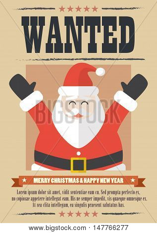 We want santa claus. wanted western poster