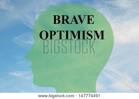 Brave Optimism - Mental Concept