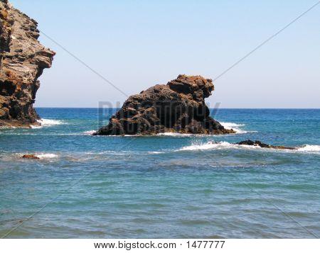 La Manga  Rocks And Sea