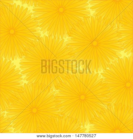 Bright Floral seamless pattern. Vector illustration EPS 10