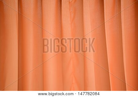 close up brown curtain or drapery texture for background