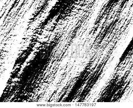 Grunge black vector texture over white background.