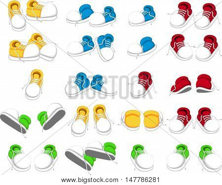 collection of shoes cartoon for you design