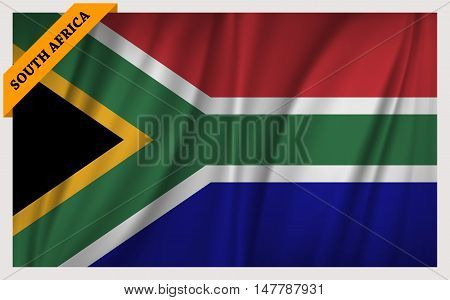 National flag of South Africa - waving edition
