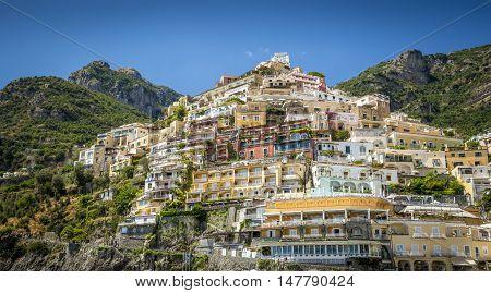 Panorama of Positano town. Amalfi Coast in Italy