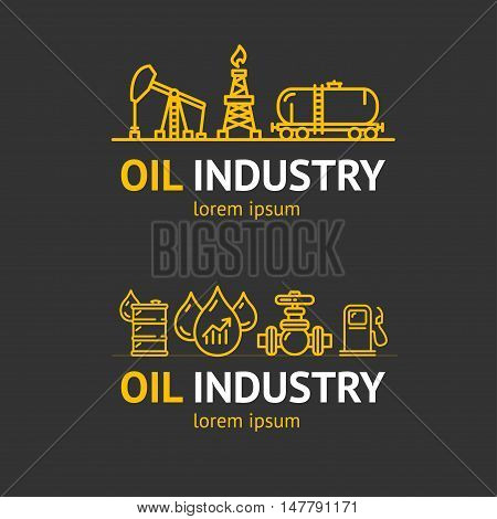 Oil Industry Corporate Sign Concept for Your Business. Vector illustration