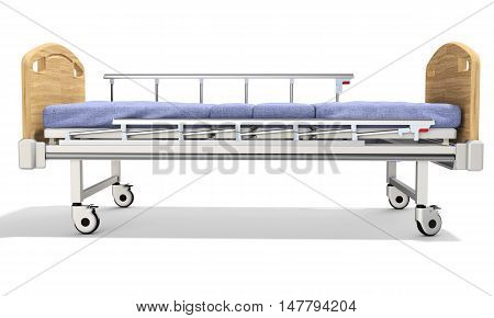 3D Mobile Hospital Bed With Recliner